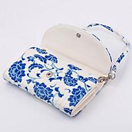 pu plånbok lady handväska blått och vitt porslin för samsung s6 kant plus / s6 kant / S6 / S5 / S4 / s3 / s2 / s / s5mini / s4mini /