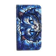 Mert Samsung Galaxy tok Pénztárca / Kártyatartó / Állvánnyal / Flip Case Teljes védelem Case Cica Műbőr SamsungS5 Mini / S4 Mini / S3