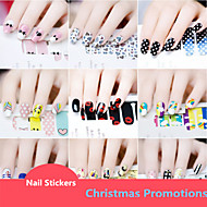 Christmas Promotions 10PCS Nail Full Cover Nail Stickers  Random Color