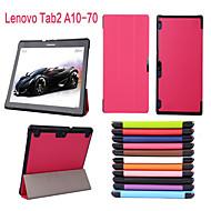 protectora casos Tablet funda de cuero casos el soporte para la lengüeta lenovo 2 a10-70f
