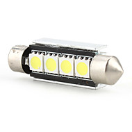 42mm 4 SMD LED White Light Bulb