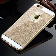iphone 6S 6のためにダイヤモンドと固体豪華なキラキラのラメバックカバーケースをhzbyc®プラス