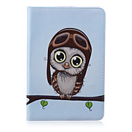 Cute Owl Eyes Pattern PU Leather Full Body Case With Stand for iPad Mini 3/2/1