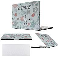 """2 en 1 eiffel amor torre cubierta de la caja de plástico duro para el MacBook Pro de 13 """"/ 15"""" + cubierta del teclado transparente"""