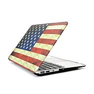 """2 en 1 bandera retro EE.UU. estuche de plástico duro plena cobertura para MacBook Pro de 13 """"/ 15"""" + cubierta del teclado transparente"""