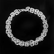 女性 チェーン&リンクブレスレット 純銀製 ファッション シルバー ジュエリー 1個