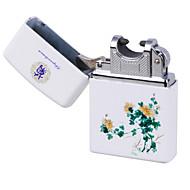 bleu&porcelaine blanche charge d'impulsion de l'arc léger usb chrysanthème léger ultra-mince cigarette électronique coupe-vent
