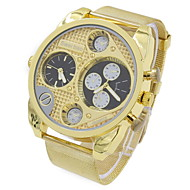 Men's Military Fashion Dual Time Zones Gold Steel Quartz Watch Wrist Watch Cool Watch Unique Watch