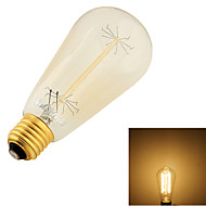 YouOKLight® 1PCS E27 40W CRI=80 400lm Warm White Light Incandescent Tungsten  Edison Filament Cone Bulb (AC 220-240V)