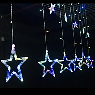 Star Window Curtain With Tail Plug String Lights Used For Outdoor/Holiday/Bedroom/Birthday Party/Christmas/Wedding