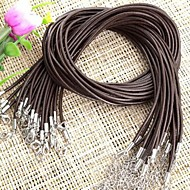 30PCS Brown Leather Necklace Cord String Strap 2mm + Clasp HOT