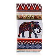 Mert Samsung Galaxy tok Kártyatartó / Pénztárca / Állvánnyal / Flip / Minta Case Teljes védelem Case Elefánt Műbőr SamsungJ7 / J5 / J3 /