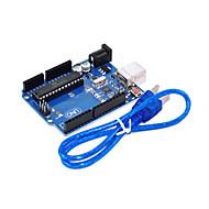 Uno R3 para Arduino (neutro) placa de desarrollo, de un solo chip microprocesador al cable usb