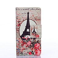 Plum Blossom Tower Painted PU Phone Case for Galaxy J5/J3/Galaxy On5