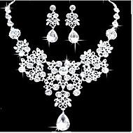 Party-Damen-Halskette / Ohrring(Versilbert / Legierung / Zirkonia)