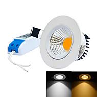 5W Lâmpada de Embutir 1 LED Integrado 0~450LM lm Branco Quente / Branco Frio Regulável AC 85-265 V 1 pç