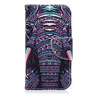 Na Samsung Galaxy Etui Etui na karty / Portfel / Z podpórką / Flip / Wzór Kılıf Futerał Kılıf Słoń Skóra PU Samsung J7 / J2 / J1 Ace