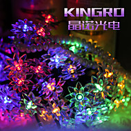 King Ro solar 19.68ft 30LED Lotus Fancy Wedding Party Decoration Light Outdoor Waterproof String Lights