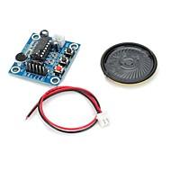 isd1820 lyd lydoptagelse modul m / mikrofon / højttaler - dybblå