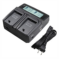 lvsun® videokamera dual lader med lcd skjerm rask lading for sony FW50