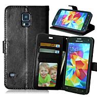Na Samsung Galaxy Etui Portfel / Etui na karty / Z podpórką / Flip Kılıf Futerał Kılıf Jeden kolor Skóra PU SamsungS6 edge plus / S6 edge
