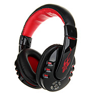 VYKON Professional Wireless Bluetooth 2.1+EDR Music / Gaming Headphone w/ Microphone - Black + Red