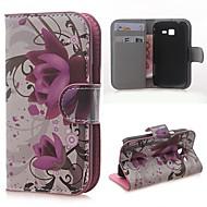 Mert Samsung Galaxy tok Kártyatartó / Pénztárca / Állvánnyal / Flip / Minta Case Teljes védelem Case Virág Műbőr Samsung Trend Lite
