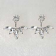 Cercei Stud Cristal Ștras imitație de diamant Aliaj Flower Shape Argintiu Auriu Bijuterii Pentru Petrecere Zilnic Casual 2pcs