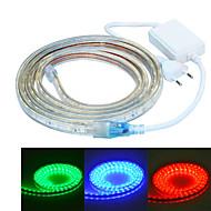 Jiawen 200cm vandtæt 12W 120-5050smd 8-tilstand RGB LED fleksibel lys strimler (ac110 ~ 220V)