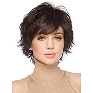 Dark Brown Full Wig for Women Cheap Wigs Short Curly Synthetic False Hair Short Natural Women's Wigs