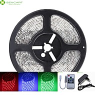 5M 75W 300x5050 SMD LED DC12V IP68 Waterproof Strip Light + 10Key Remote Control RGB + 12V 2A power AC100-240V