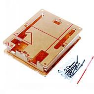 Bij behuizing transparant acryl box duidelijke omslag voor arduino uno r3 boord r3