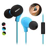 DIY høykvalitets ultralette sports øretelefon øret musikk hodetelefoner for reduksjon mic støy anti-svette / vanntett / skid