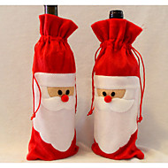 regalo bolsa de vino santa claus padre bolsa de navidad decoraciones de Navidad 1pcs