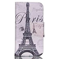 Iron Tower Painted PU Phone Case for ipod touch5/6