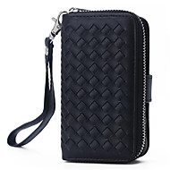 PU Leather Zipper Handbag Wallet Purse with Card Slot Phone Case Cover for Apple iphone 5/ 5S
