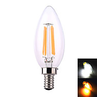 YWXLIGHT E12 8W 4 COB 640 LM Warm White / Natural White LED Candle Bulbs AC 110-130 V