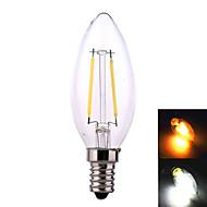 ywxlight E14 / E26 / E27 4 w 2 * cob 320 lm varm hvid / naturhvid førte lys pærer ac 220-240 v