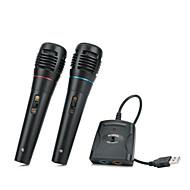 5-i-1 kabel karaoke mikrofon sæt til PS3 / PS2 / PC / wii / Xbox 360 - sort (2 stk)