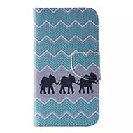 Mert Samsung Galaxy tok Kártyatartó / Pénztárca / Állvánnyal / Flip / Minta Case Teljes védelem Case Elefánt Műbőr mert SamsungJ7 Prime /