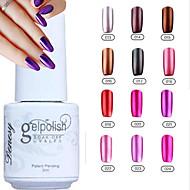 YeManNvYou®Metallic Mirror Effect Soak Off UV Gel Nail Polish No.13-24(5ml,Assorted Colors)