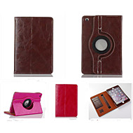 fashion boutique PU lær 360⁰ tilfeller auto sleep / wake up kortholderen saker for ipad 4/3/2 (assorterte farger)
