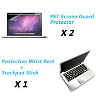 "Metal Wrist Rest Protective Film and Touch Panel Membrane + Protective Clear Screen Guard for 13.3""/15.4"" MacBook Pro"