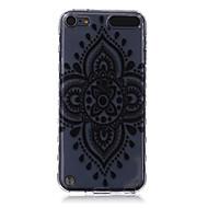 logrotate®anti-derrapante padrão de design de flor de diamante TPU soft case para iPod Touch 5/6