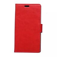 etterligning ekte skinn ensfarget wallet card pu tilfelle med stativ for Huawei y360 (assorterte farger)