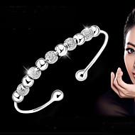 Dames Bangles Armband Basisontwerp Modieus Sterling zilver Cirkelvorm Zilver Sieraden Voor Bruiloft Feest Dagelijks Causaal Kerstcadeaus1