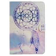 For Samsung Galaxy Case Card Holder / Wallet / with Stand / Flip / Pattern Case Full Body Case Dream Catcher PU Leather SamsungTab 4 10.1