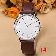 European And American Fashion DW Simple 2-Pin Male And Female Casual Leather Dial Silver Watch Case