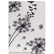 Birds and dandelion TPU Textile Cloth Card Slot Stents The Cladding  For Apple iPad Air