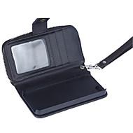 padrão carteira zipper correia de pulso casos carteira de couro genuíno para iPhone 5 5s / iphone